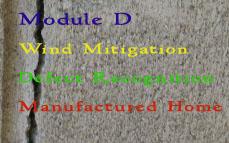 FL CE: Module D (Wind Mitigation, Defect Recognition, Manufactured Home Inspection)